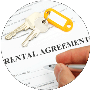 A rental agreement contract